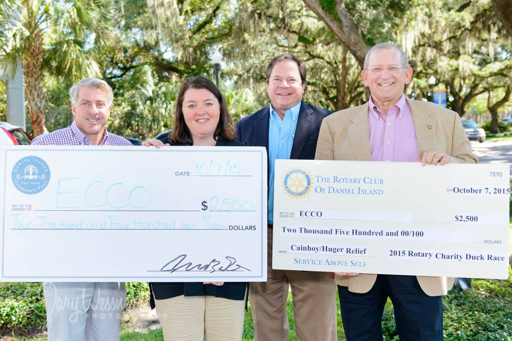 Last week, the Rotary Club of Daniel Island and the Daniel Island Community Fund announced they, too, would be supporting flood relief efforts. Both organizations contributed $2500 each to ECCO specifically to help flood victims in the Cainhoy Peninsula area.