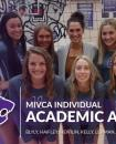 Photo provided by Matt Stofer - Seven Three Rivers senior volleyball players have been named Division 2 Individual Academic All-State by the Michigan Volleyball Coaches Association. Pictured in front left to right are Ellana Haifley, Zoe Swartz and Shantel Blyly; back row, Kali Heivilin, Carli Lehman, coach Lauren Cholometes, Rylie Kelly and Brooke Mercer.