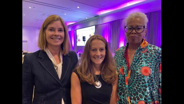 Photo provided - (L-R) Michigan Supreme CourtChief JusticeBridget M. McCormack,Kathy S. Griffin, and Cynthia D. Stephens, Judge of the Michigan Court of Appeals, First District, at National Association for Court Management annual conference in San Diego where the Chief Justice swore-in Kathy as president of the 1900-member association.