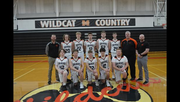 Commercial-News | Scott Hassinger - The 2020-21 Marcellus varsity boys' basketball team. Pictured in the front row left to right are, Ethan Bateman, Andrew Brewer, Ethan Borger, Drake Surach and Ashton Weston; back row, assistant coach Chris Reed, Seth Lansdale, Jaxon VanTilburg, Gavin Etter, Brady Ferguson, Wyatt Haas, head coach Troy Kahler and assistant coach Christian Hudson.