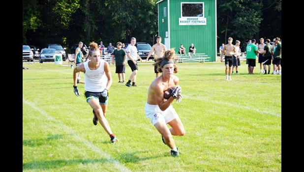Gridders get first taste of live action in 7-on-7 passing league