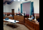 Screenshot via Zoom - The St. Joseph County Board of Commissioners discuss a District Court hiring freeze exception request for a new clerk during their regular meeting Tuesday. The request was accepted by a 3-2 vote of the commissioners.